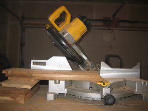 Miter saw angled cut